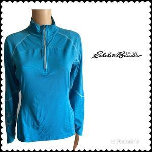Eddie Bauer Sport Blue Half Zip Pullover